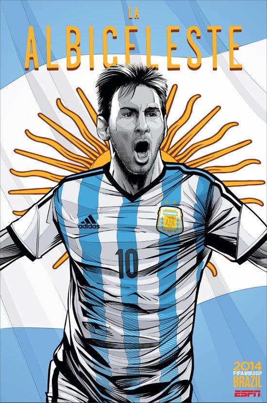 Ilustrações das seleções Copa